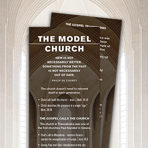 Model Church Study Bookmark