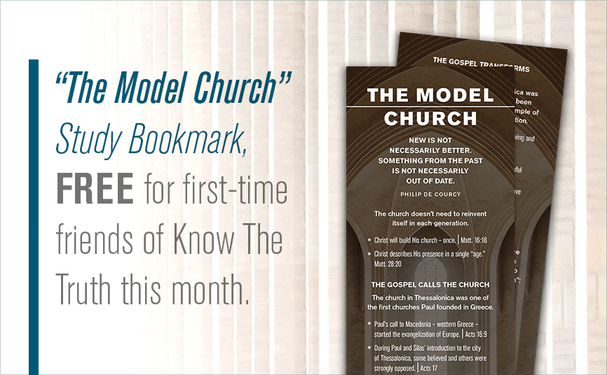 The Model Church Study Bookmark
